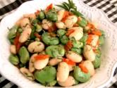 Italian Style Fava And Butter Bean Salad With Mint Citronette
